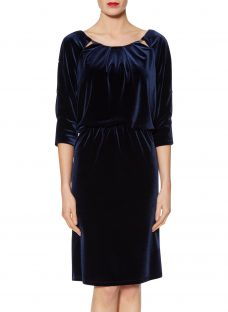 Gina Bacconi Lillian Velvet Keyhole Dress