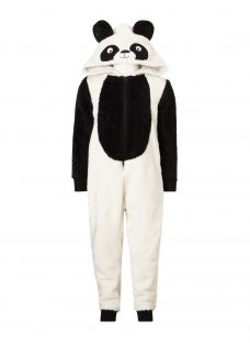 John Lewis Children's Panda Fleece Onesie
