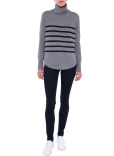 French Connection Stripe Roll Neck Jumper