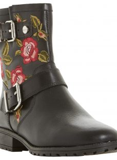 Dune Riva Embroidered Biker Boots