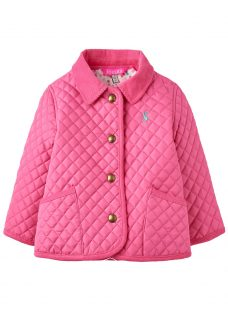 Baby Joule Mabel Quilted Jacket with Ditsy Lining
