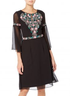 Raishma Boho Floral Embroidered Boho Dress