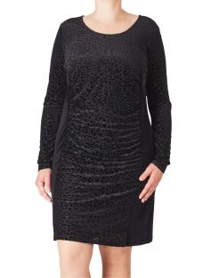 ADIA Burn Out Velour Dress