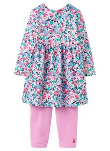 Baby Joule Christina Kitty Ditsy Floral Dress and Leggings Set