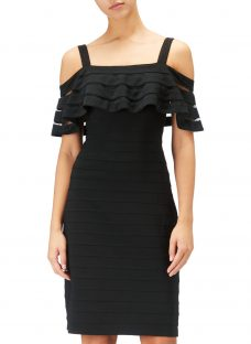 Adrianna Papell Banded Off Shoulder Sheath Dress