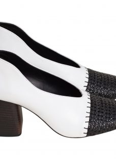 Finery Axel Block Heeled Court Shoes