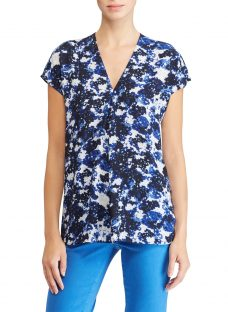 Lauren Ralph Lauren Andreya Pleated Floral Georgette Top