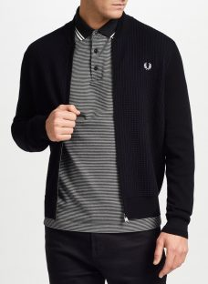 Fred Perry Knitted Bomber Cardigan