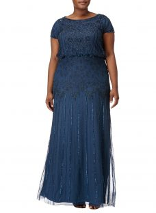 Adrianna Papell Plus Size Embellished Long Dress