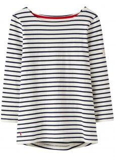 Joules Harbour Stripe 3/4 Sleeve Jersey Top