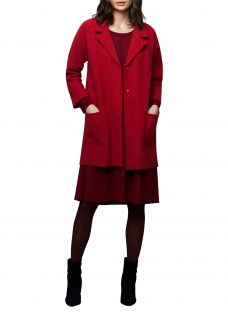 East Boiled Wool Longline Coat