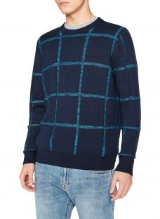 PS by Paul Smith Textured Stripe Merino Cotton Jumper