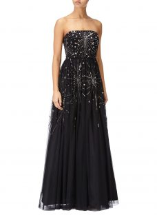 Adrianna Papell Beaded Ball Gown