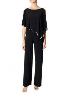 Adrianna Papell Plus Size Jersey Capelet Jumpsuit