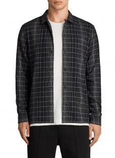 AllSaints Alverstone Checked Long Sleeve Shirt