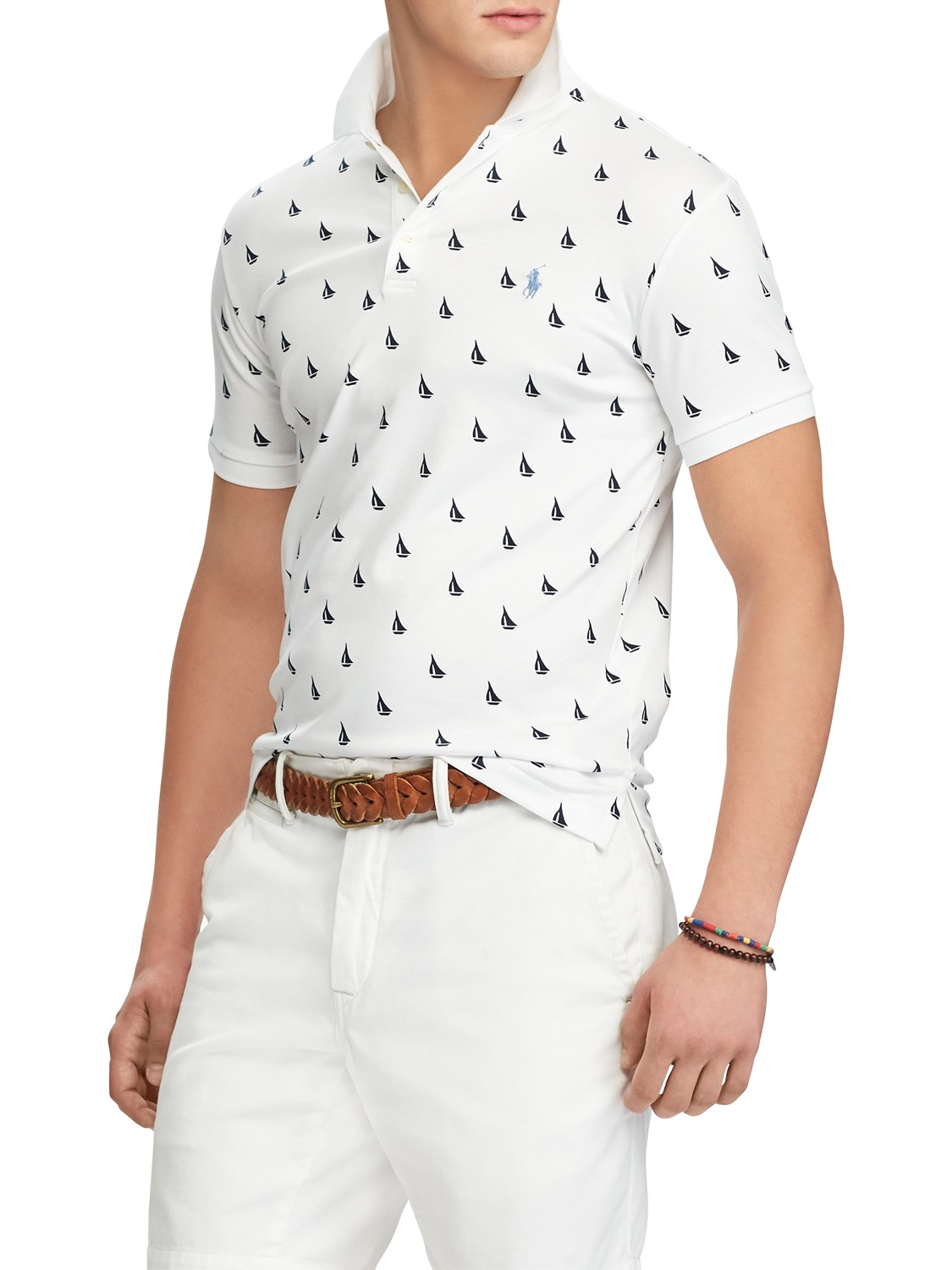 Polo Ralph Lauren Slim Fit Printed Polo Top