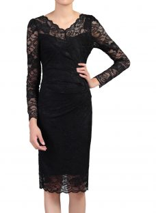 Jolie Moi Long Sleeved Lace Bodycon Dress