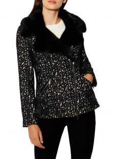 Karen Millen Animal Biker Jacket