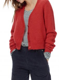 Brora Mohair Textured V-Neck Cardigan