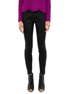 Ted Baker Aissats Waxed Ankle Zip Skinny Jeans