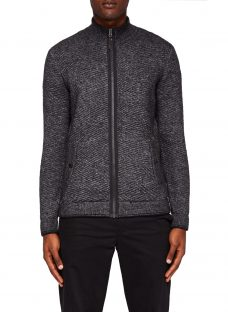 Ted Baker Kulfi Full Zip Textured Cardigan