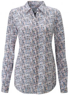 Pure Collection Abstract Ditsy Print Silk Shirt