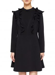 Ted Baker Fashal Long Sleeve Frill Dress