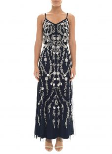 Adrianna Papell Petite Bead and Sequin Embellishment Maxi Dress