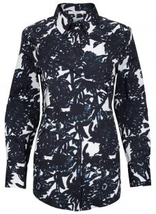 Finery Cotman Charcoal Floral Shirt