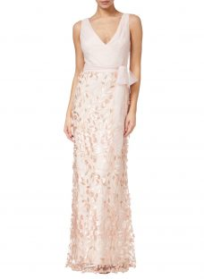 Adrianna Papell Petal Tulle Dress
