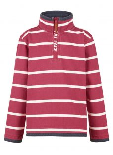 Fat Face Boys' Jamie Stripe Half Neck Jumper