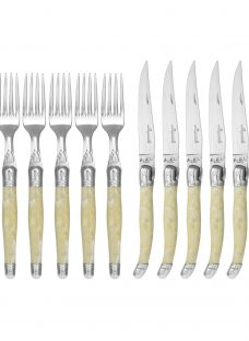 Laguiole by Jean Dubost Steak Knives and Forks Set