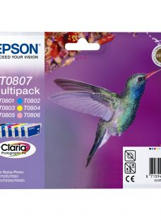 Epson Hummingbird T0807 Inkjet Cartridge Multipack