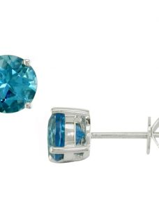 EWA 9ct White Gold Topaz Stud Earrings