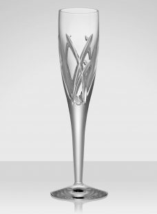 John Rocha for Waterford Crystal Signature Glassware Cut Lead Crystal Champagne Flute
