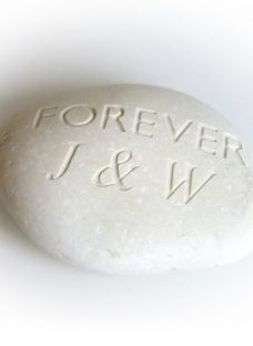 Personalised 'Forever' Sentiment Stone