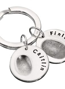 Under the Rose Personalised Fingerprint Keyring