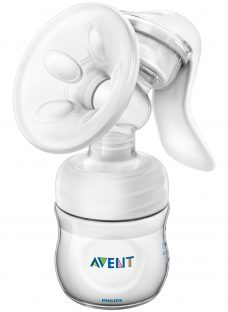 Philips Avent Manual Comfort Breast Pump with 4oz Baby Bottle