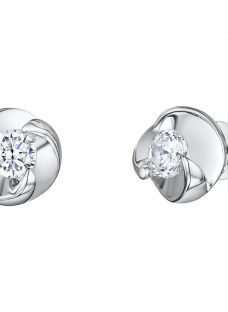 Jenny Brown Twist Cubic Zirconia Stud Earrings