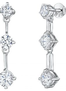 Jools by Jenny Brown Cubic Zirconia 3 Stone Drop Earrings
