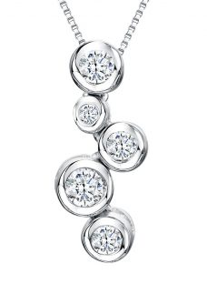 Jools by Jenny Brown Cubic Zirconia 5 Circle Pendant Necklace