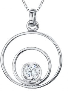 Jools by Jenny Brown Cubic Zirconia 2 Oval Pendant Necklace