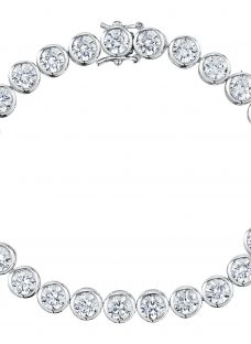 Jools by Jenny Brown Round Rubover Cubic Zirconia Tennis Bracelet