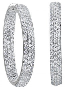 Jools by Jenny Brown Medium Wide Hoop Earrings