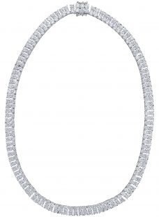Jools by Jenny Brown 2 Row Cubic Zirconia Tennis Necklace