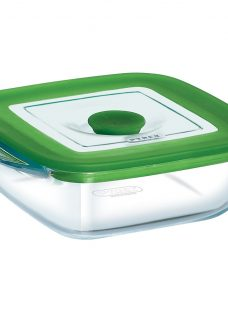 Pyrex Glass Square Storage Oven Dish with Lid