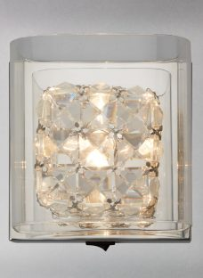 John Lewis Vincenzo Square Crystal Cube Wall Light