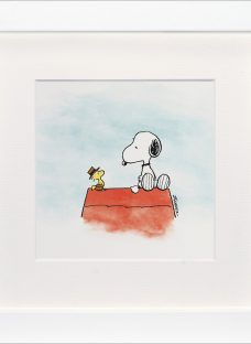 Schulz -Snoopy and Woodstock Down To Business Framed Print
