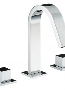 Abode Zeal Deck Mounted 3TH Bathroom Mixer Tap