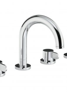 Abode Bliss Thermostatic Deck Mounted 4 Hole Bath/Shower Mixer Bathroom Tap